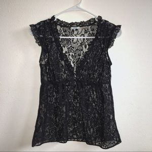 Kimchi Blue Urban Outfitters Black Lace Vest